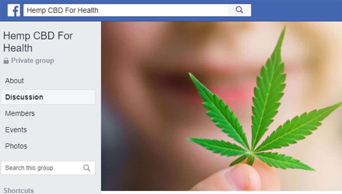 Hemp CBD for health facebook group