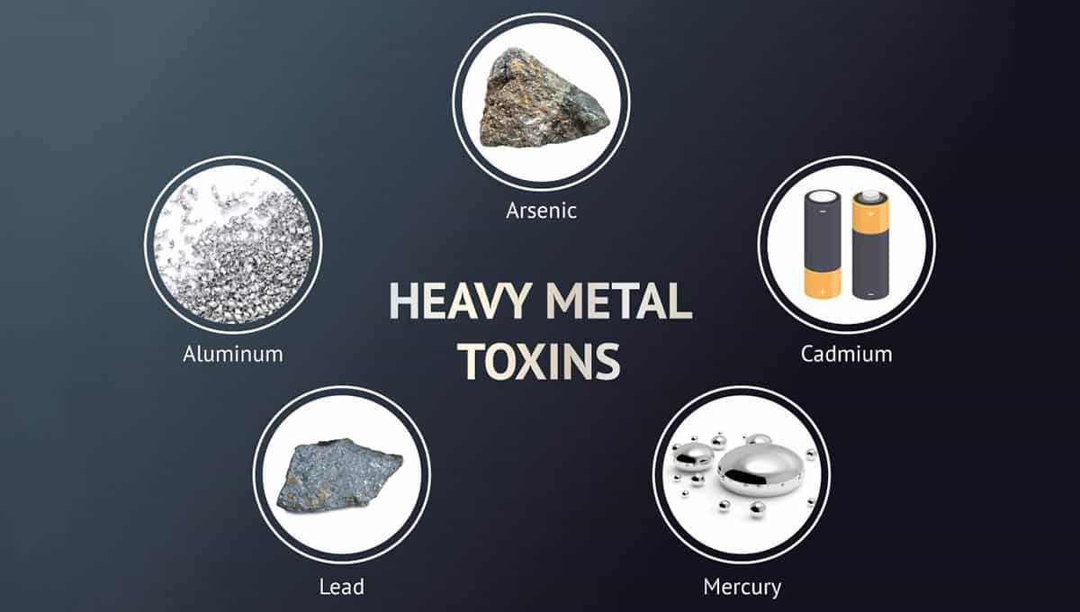 Different kinds of heavy metals