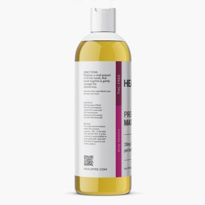 Healspire CBD massage oil back